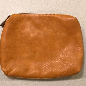 Sole society faux leather pouch